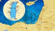 أين يقع البحر الميت على الخريطة