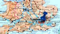 أين تقع بريطانيا على الخريطة