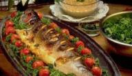 طريقة شوي سمك الهامور بالفرن