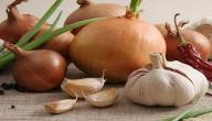 فوائد أكل الثوم والبصل