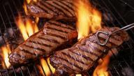 كيف يكون اللحم المشوي طرياً