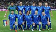 تشكيلة المنتخب الايطالي 2012
