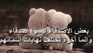 كلمات جميلة لصديق عزيز