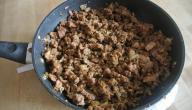 طريقة قلي اللحم المفروم