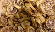 طريقة تجفيف قشر الليمون
