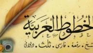 أنواع الخطوط العربية وأشكالها