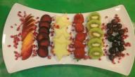 طريقة تقديم الفواكه