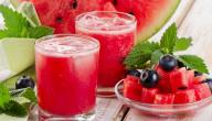 كيفية عمل عصير البطيخ
