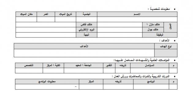كيفية عمل سيرة ذاتية باللغة العربية موضوع