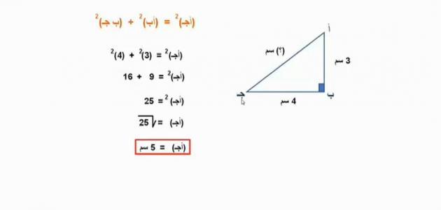قانون نظرية فيثاغورس