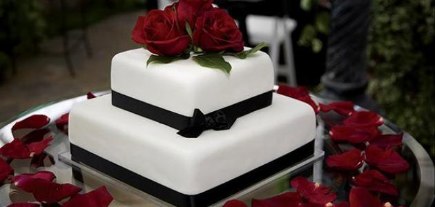 كيكات عيد الزواج موضوع