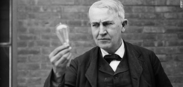 هل توماس اديسون هو مخترع المصباع الكهربائى حقا ؟