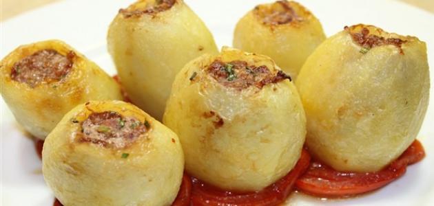 طريقة البطاطس المحشية