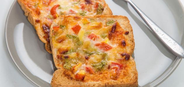 طريقة عمل البيتزا بالتوست