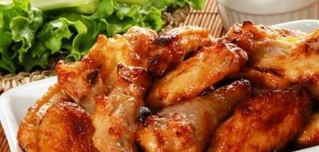 طريقة عمل أجنحة الدجاج الحارة
