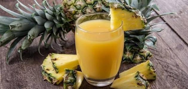 فوائد عصير الأناناس للتنحيف