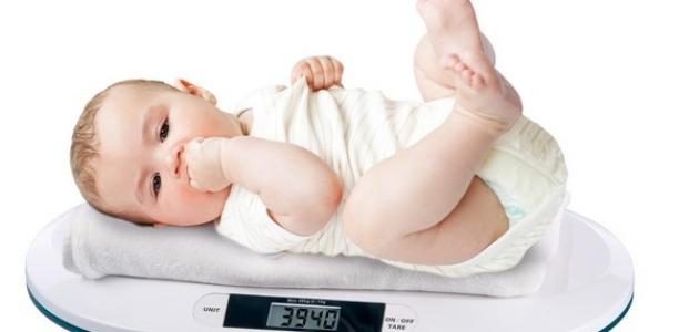 معدل زيادة وزن الرضيع