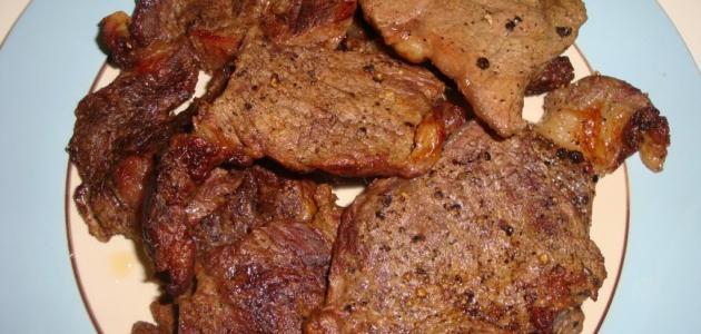 طريقة عمل شرائح اللحم بالفرن