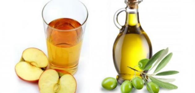 خل التفاح وزيت الزيتون