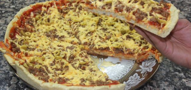صنع البيتزا في البيت