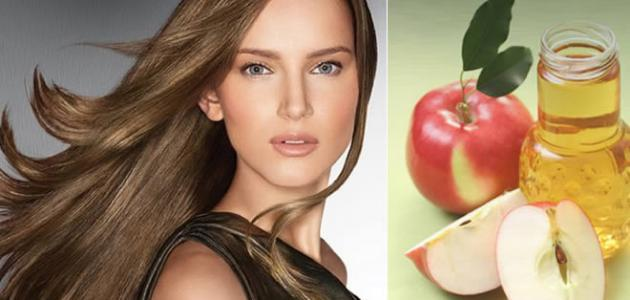 فوائد خل التفاح للشعر الجاف