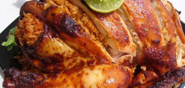 طريقة الدجاج المحشي بالأرز
