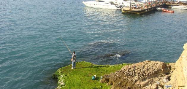 صيد السمك في لبنان
