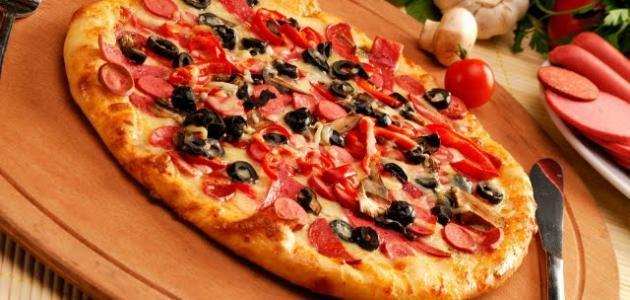 طريقة تحضير بيتزا سهلة