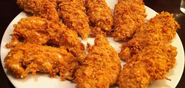 طريقة عمل أصابع الدجاج