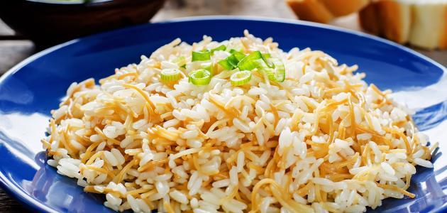 طريقة الأرز بالشعيرية