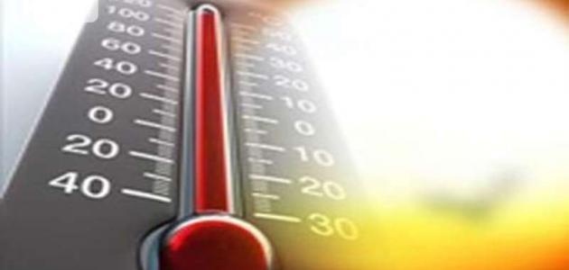 قياس درجة الحرارة الجو