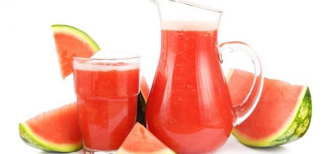 عمل عصير البطيخ