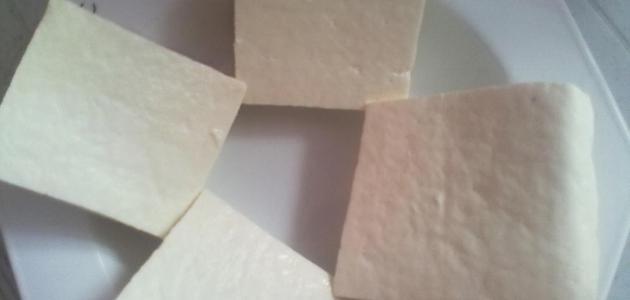 عمل الجبنة البيضاء بالمنزل