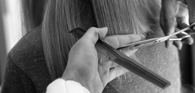 طريقة قص الشعر الطويل