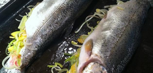 سمك محشي بالفرن