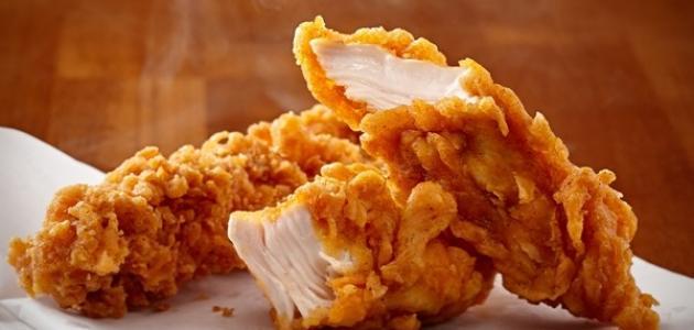 عمل الدجاج المقرمش
