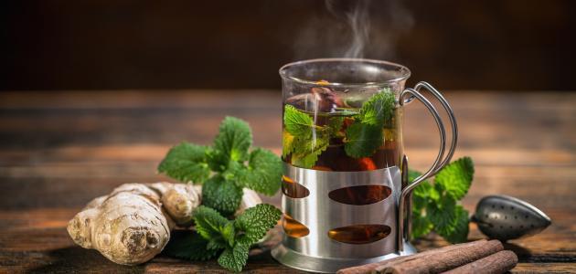 فوائد الزنجبيل مع الشاي الأخضر