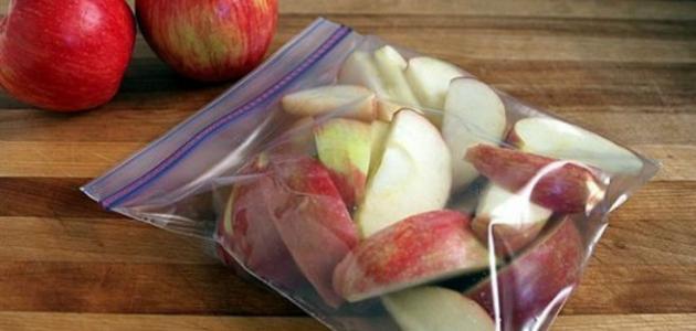 طريقة تقطيع التفاح