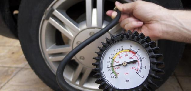 ضغط الهواء في إطارات السيارات