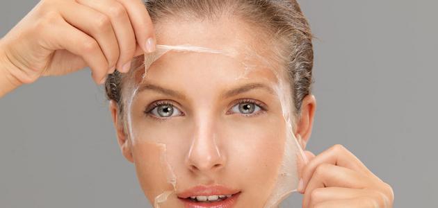 طريقة لتقشير الوجه