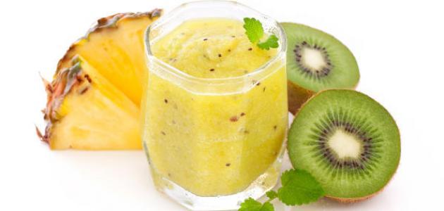 فوائد عصير الأناناس والكيوي