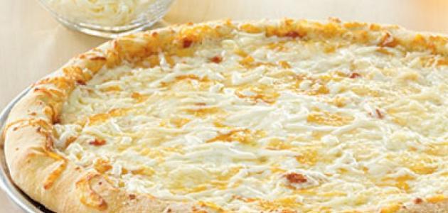 طريقة عمل بيتزا بالجبن
