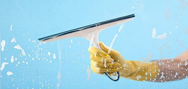 طريقة تنظيف الزجاج