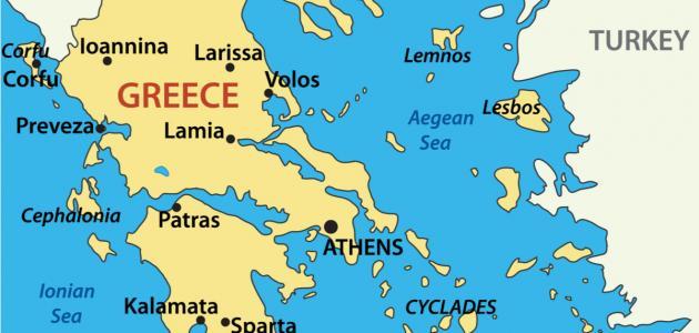 جزر اليونان القريبة من تركيا موضوع