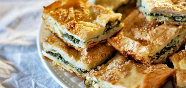 بمناسبة رمضان ....شاهد طريقة عمل الجلاش بالجبنة والزيتون  سريعة ولذيذة