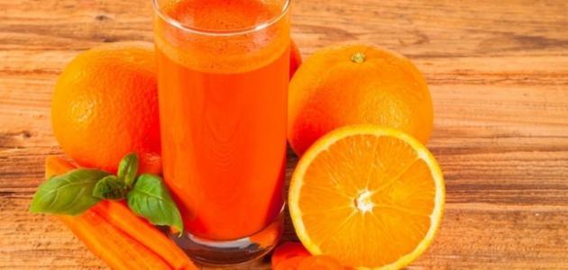 طريقة عمل عصير الجزر بالبرتقال
