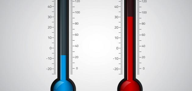 قياس درجة الحرارة