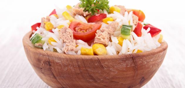 طريقة عمل أرز بالتونة