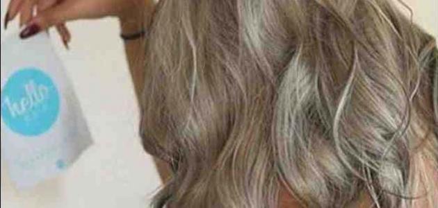 طريقة صبغ الشعر أشقر رمادي زيتي
