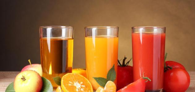الفرق بين العصير والشراب